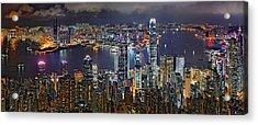 Hong Kong At Dusk Acrylic Print