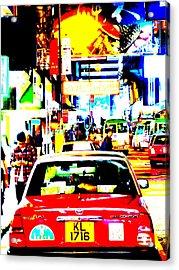 Hong Kong Cabs Acrylic Print by Funkpix Photo Hunter