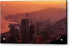 Hong Kong City View From Victoria Peak Acrylic Print