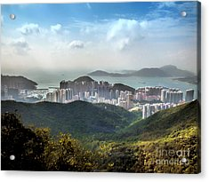 Hong Kong From Victoria Peak Acrylic Print
