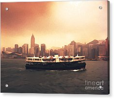 Hong Kong Harbour 01 Acrylic Print by Pixel  Chimp