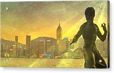 Hong Kong Lights Acrylic Print by Loriental Photography