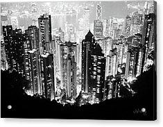 Acrylic Print featuring the photograph Hong Kong Nightscape by Joseph Westrupp