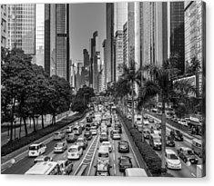 Hongkong Traffic Acrylic Print by Philipp Weindich