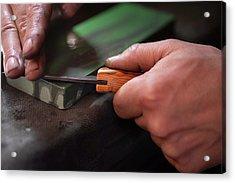 Honing The Blade 4 Acrylic Print