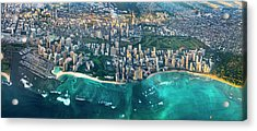 Honolulu From High Acrylic Print