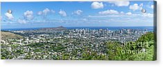 Acrylic Print featuring the photograph Honolulu  by Hans- Juergen Leschmann