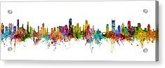 Honolulu, Miami And Nashville Skylines Mashup Acrylic Print
