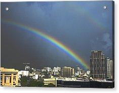Honolulu Rainbow Acrylic Print