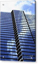 Honolulu Skyscraper Acrylic Print by Brandon Tabiolo - Printscapes