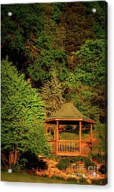 Honor Heights Gazebo In Vertical Acrylic Print