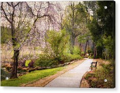 Acrylic Print featuring the photograph Honor Heights Pathway by James Barber