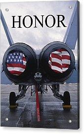 Honor The Flag Acrylic Print