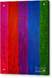 Honor The Rainbow Acrylic Print by Rachel Hannah