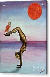 Honoring Owl Acrylic Print by Steed Edwards