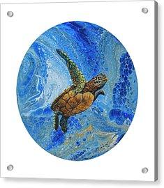 Acrylic Print featuring the painting Honu Amakua by Darice Machel McGuire