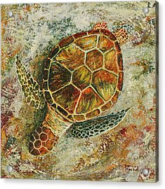 Acrylic Print featuring the painting Honu On The Beach by Darice Machel McGuire