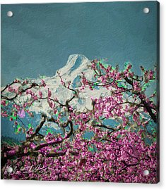 Acrylic Print featuring the digital art Hood Blossoms by Dale Stillman