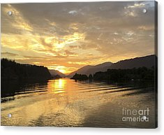 Hood River Golden Sunset Acrylic Print