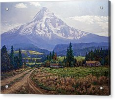 Hood River Valley Acrylic Print by Donald Neff