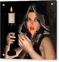 Hooded Girl Acrylic Print