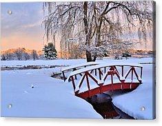 Hoodkroft Winter2 Acrylic Print by John Sweeney