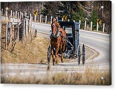 Hoofing It Home Acrylic Print