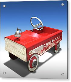 Acrylic Print featuring the photograph Hook And Ladder Peddle Car by Mike McGlothlen