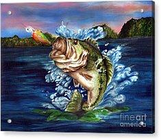 Hooked Acrylic Print by Kathleen Kelly Thompson