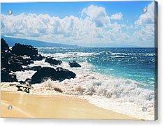 Hookipa Beach Maui Hawaii Acrylic Print by Sharon Mau