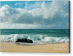Acrylic Print featuring the photograph Hookipa Beach Pacific Ocean Waves Maui Hawaii by Sharon Mau