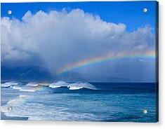 Ho'okipa Rainbow Acrylic Print