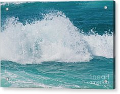 Acrylic Print featuring the photograph Hookipa Splash Waves Beach Break Shore Break Pacific Ocean Maui  by Sharon Mau