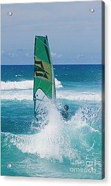 Hookipa Windsurfing North Shore Maui Hawaii Acrylic Print by Sharon Mau