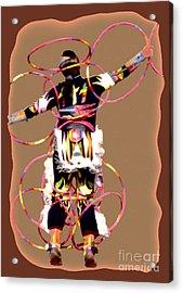 Hoop Dancer 2 Acrylic Print by Linda  Parker