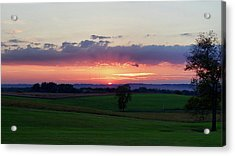 Hoosier Sunset Acrylic Print