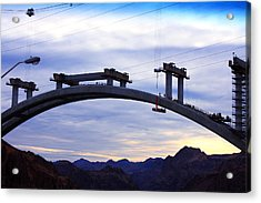 Hoover Dam Bridge Under Construction Acrylic Print