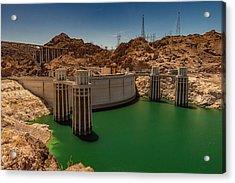 Hoover Dam Acrylic Print by Ed Clark