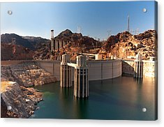 Hoover Dam Acrylic Print by Melody Watson