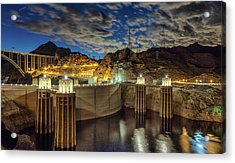 Acrylic Print featuring the photograph Hoover Dam by Michael Rogers