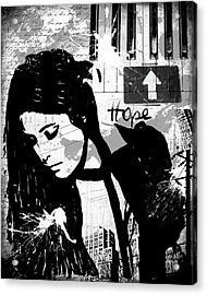 Hope Black Acrylic Print