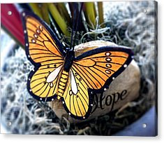Hope Acrylic Print by Carlos Avila