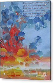 Hope Rising - With Poem Acrylic Print by Jeni Bate