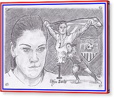 Hope Solo Acrylic Print by Chris DelVecchio