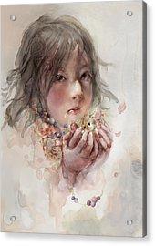 Hope Acrylic Print by Te Hu