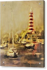 Hope Town Harbor Vintage Acrylic Print