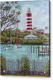Hope Town Lighthouse Acrylic Print