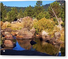 Hope Valley River Acrylic Print by Russell  Barton