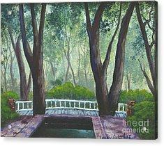 Hopeland Gardens Pool Acrylic Print