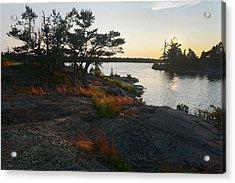 Hopewell Bay Island Rock Grass Acrylic Print